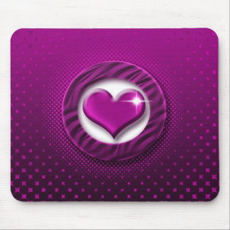 Pink & purple heart elegant mousepads