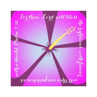 Pink/Purple Hibiscus Canvas Bible Verse Gallery Wrap Canvas