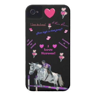 Pink & Purple Horse Lover iPhone 4 Case-Mate Case