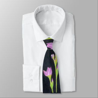 Pink Purple Iris Tie