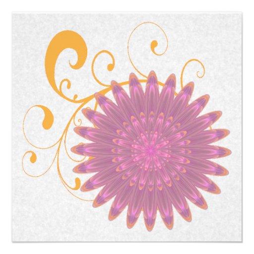 Pink & Purple Kaleidoscope Flower Announcements