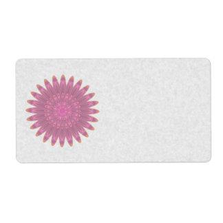 Pink & Purple Kaleidoscope Flower Shipping Label