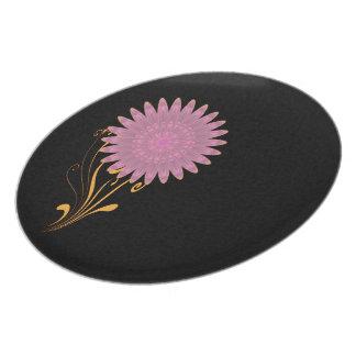 Pink & Purple Kaleidoscope Flower Plates