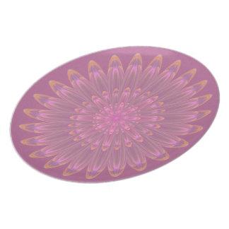 Pink & Purple Kaleidoscope Flower Plate