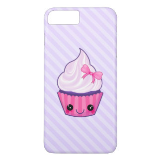 Pink & Purple Kawaii Cupcake Illustration iPhone 7 Plus Case