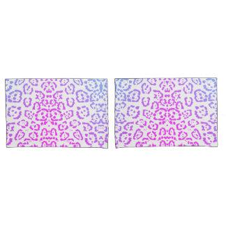 Pink Purple Leopard Cat Animal Print Pillowcase