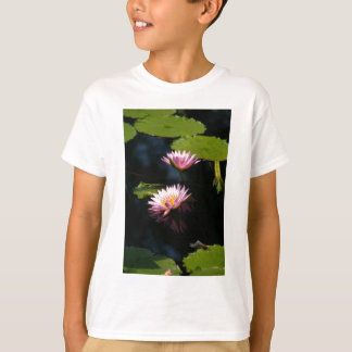 Pink Purple Lotus Waterlilies T-Shirt