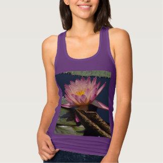Pink Purple Lotus Waterlily Tank top