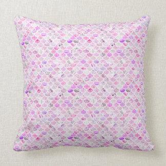 Pink & Purple Marble Mermaid Scales Cushion