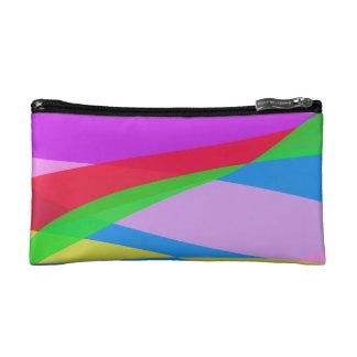 Pink Purple Minimalism Abstract Art Cosmetic Bag