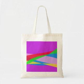 Pink Purple Minimalism Abstract Art Bag