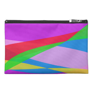 Pink Purple Minimalism Abstract Art Travel Accessories Bags