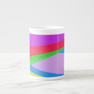 Pink Purple Minimalism Abstract Art Bone China Mug