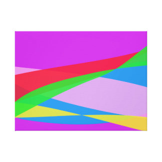 Pink Purple Minimalism Abstract Art Stretched Canvas Prints