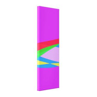 Pink Purple Minimalism Abstract Art Canvas Print