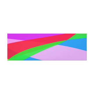 Pink Purple Minimalism Abstract Art Gallery Wrapped Canvas