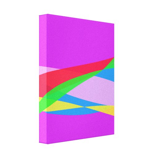Pink Purple Minimalism Abstract Art Canvas Prints