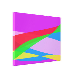 Pink Purple Minimalism Abstract Art Gallery Wrap Canvas
