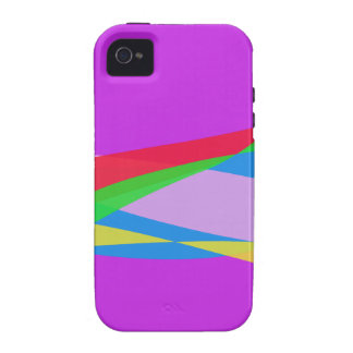 Pink Purple Minimalism Abstract Art Vibe iPhone 4 Covers