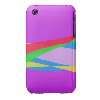 Pink Purple Minimalism Abstract Art iPhone 3 Case-Mate Case