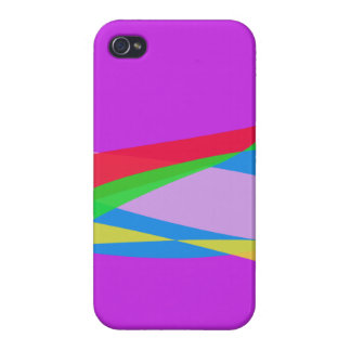 Pink Purple Minimalism Abstract Art iPhone 4/4S Cases