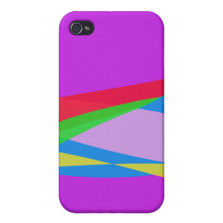 Pink Purple Minimalism Abstract Art Cases For iPhone 4