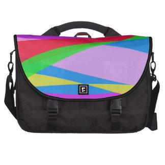 Pink Purple Minimalism Abstract Art Commuter Bag
