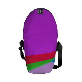 Pink Purple Minimalism Abstract Art Messenger Bag