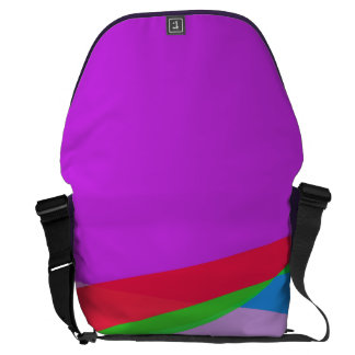 Pink Purple Minimalism Abstract Art Courier Bag