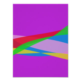 Pink Purple Minimalism Abstract Art Poster