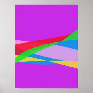 Pink Purple Minimalism Abstract Art Poster