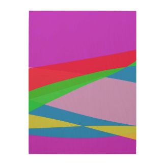 Pink Purple Minimalism Abstract Art Wood Canvases