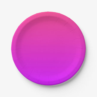 Pink/Purple Ombre Small Paper Plates