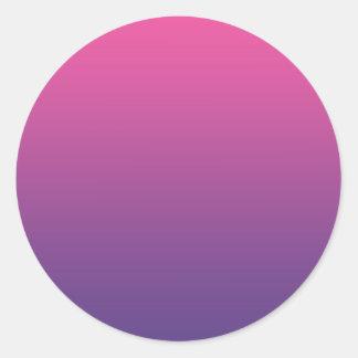 Pink & Purple Ombre Round Sticker