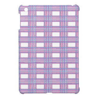 pink purple plaid i-pad mini case cover for the iPad mini