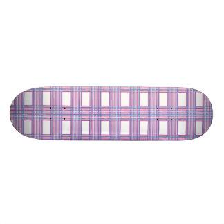 pink purple plaid skateboard