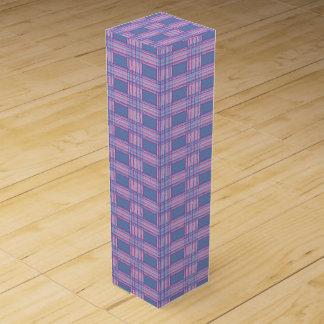pink purple plaid wine box