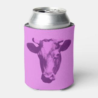 Pink & Purple Pop Art Cow Can Cooler