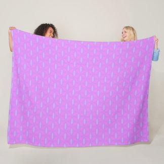 Pink & Purple Princess Dream Plush Pattern Quilt Fleece Blanket