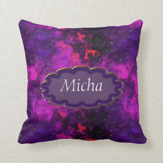 Pink Purple Red Candle Wax Monogram Pillows