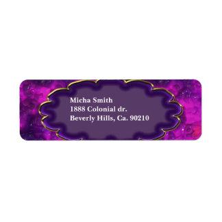 Pink Purple Red Candle Wax Monogram Return Address Label