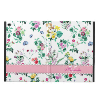 Pink purple red yellow wildflowers & roses, name powis iPad air 2 case