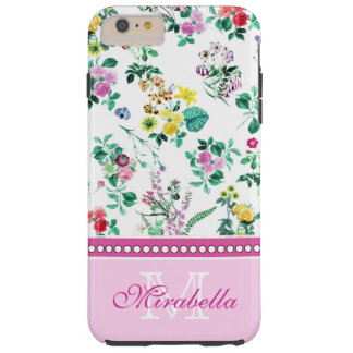Pink purple red yellow wildflowers & roses, name tough iPhone 6 plus case