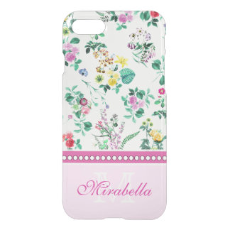 Pink purple red yellow wildflowers & roses, named iPhone 8/7 case