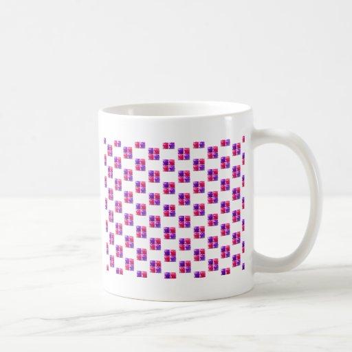 Pink & Purple Shiny Bling Gift Box Pattern Coffee Mug