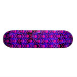 Pink & Purple Skulls Skateboard Deck