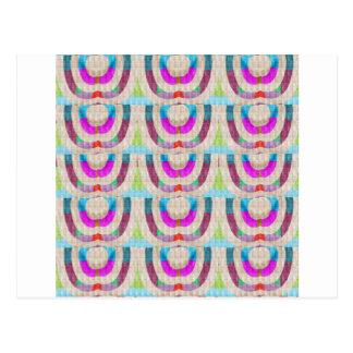 PINK Purple Sparkle Circle ETHNIC Wedding Deco ART Post Card