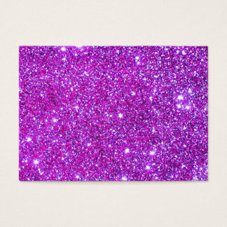 Pink Purple Sparkly Glam Glitter Designer Business Card