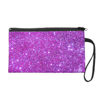 Pink Purple Sparkly Glam Glitter Designer Clutch Wristlet Purse