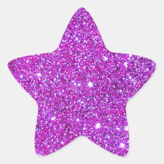 Pink Purple Sparkly Glam Glitter Designer Star Sticker
